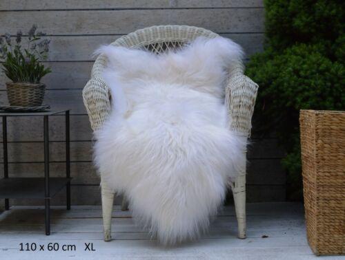 Unique en peau de mouton Tapis Couverture masquer Espèce Rare 100/% Authentique Naturel et Teint
