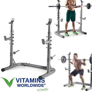 olympic workout rack squat gym power stand weight lifting