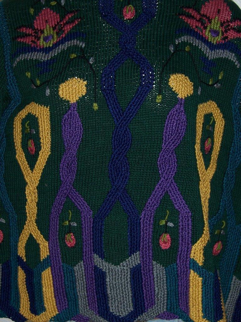 BEREK BY MARTA D HAND KNITTED CARDIGAN SWEATER SWEATER SWEATER 1992 SIZE MEDIUM PIMA COTTON WOW 4a65b4