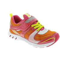 Tsukihosi Coral/orange Lightweight Soft Non-tie Sneakers Little Girls Size 9