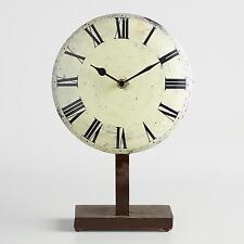White Metal Emery Pedestal Clock by World Market