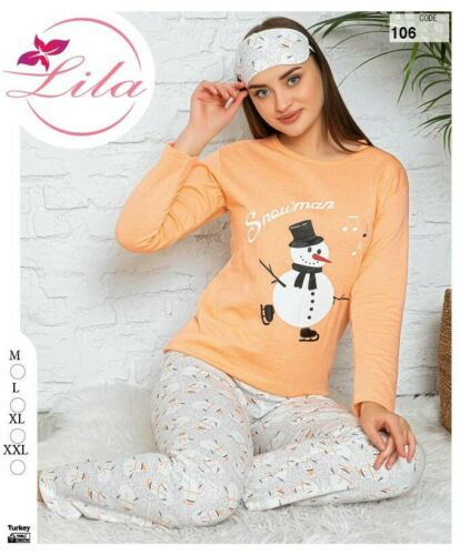Woman Long Sleeve Sleep wear Night wear cotton pajamas 3 PCS Set Free shipping