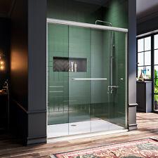 Bath 60 X 72 Frameless Sliding Shower Door Screen 5 16 Glass Brushed Nickel For Sale Online Ebay