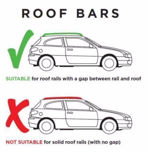 Roof Bars Rack Aluminium Locking Cross Rails fits Jeep Renegade 2014-2016