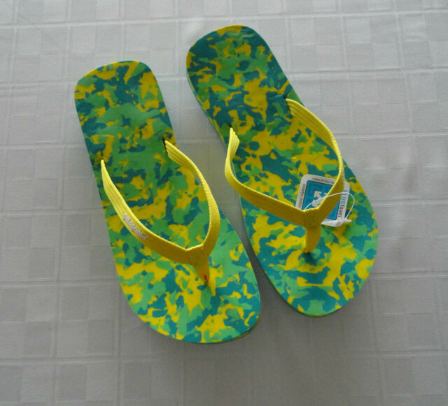 New - PATAGONIA - Reflip Chip Flip Flop Sandals Yellow T52206  Women's - Size 7