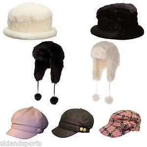 Details about Pia Rossini Hats Faux Fur Baker Boy Cap Russian Flap New  Trendy Boho Ladies Chic afffa498e47