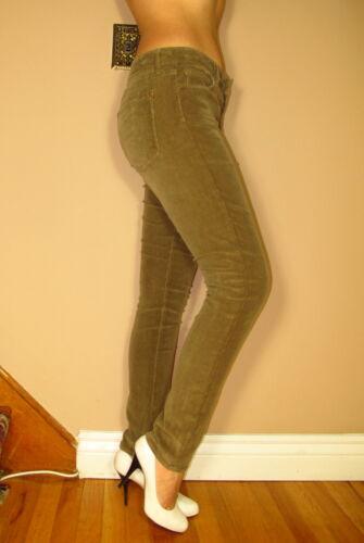 $220 Vince Skinny Soft Corduroy Pants Cords Sand Tan Beige Color Mid-Rise 24 25