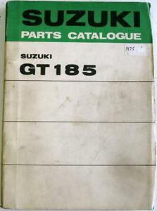 SUZUKI-GT185-K-L-M-Original-Motorcycle-Parts-List-Mar-1975-99000-91772