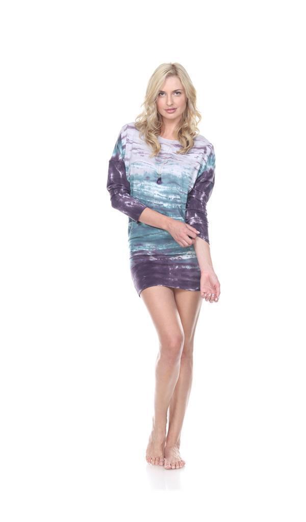 Rock Cotton - Long Sleeve Versatile Tunic - Tie-Dye lila - Amethyst