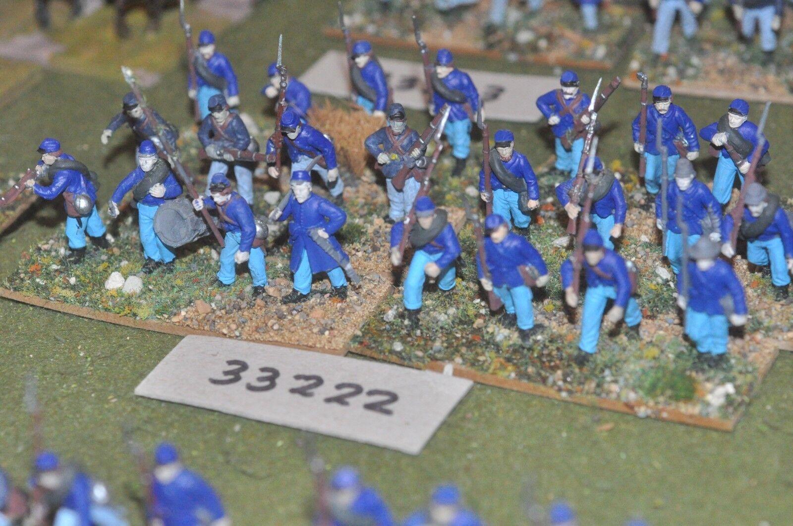 25mm ACW   union - regiment (plastic) 24 figures - inf (33222)