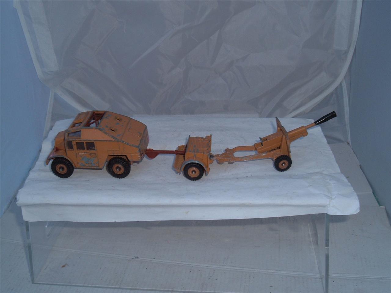 DESERT RATS MORRIS QUAD TRACTOR AMMUNITION TRAILER & FIELD GUN 1 HEADLIGHT SHORT
