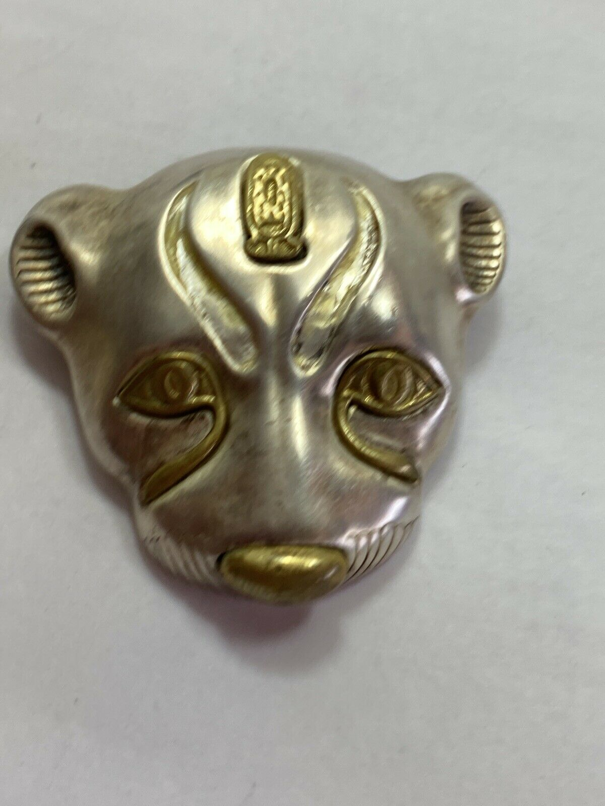 vintage Egyptian or Sumerian style sterling pendant