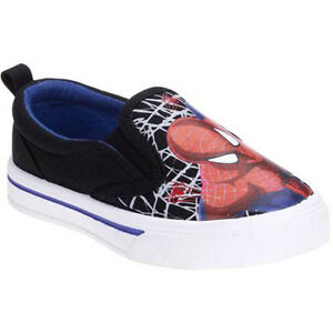 The AMAZING SPIDER-MAN 2 Canvas Slip-On Sneakers Shoes Sz. 7, 9, 10 11 or 12 $25