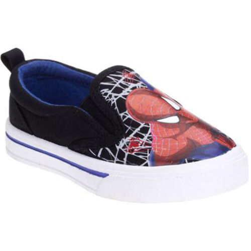 7 The AMAZING SPIDER-MAN 2 Canvas Slip-On Sneakers Shoes Sz 9 10 11 or 12 $25