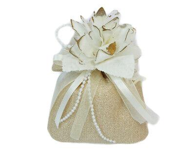 Bomboniera Sacchetto Grande Oro Pick Fiore Nozze Oro Matrimonio Promuovi La Produzione Di Fluidi Corporei E Saliva