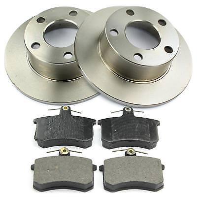 für AUDI Bremsen-Set Bremsbeläge Hintenu.a 2 Bremsscheiben Voll 245 mm