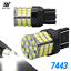 New-7443-7440-LED-White-6000K-Reverse-Turn-signal-DRL-Parking-Light-Bulbs-57-SMD thumbnail 1