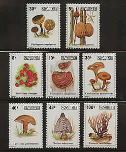 Mushrooms-set-of-8-mnh-stamps-1979-Zaire-910-17