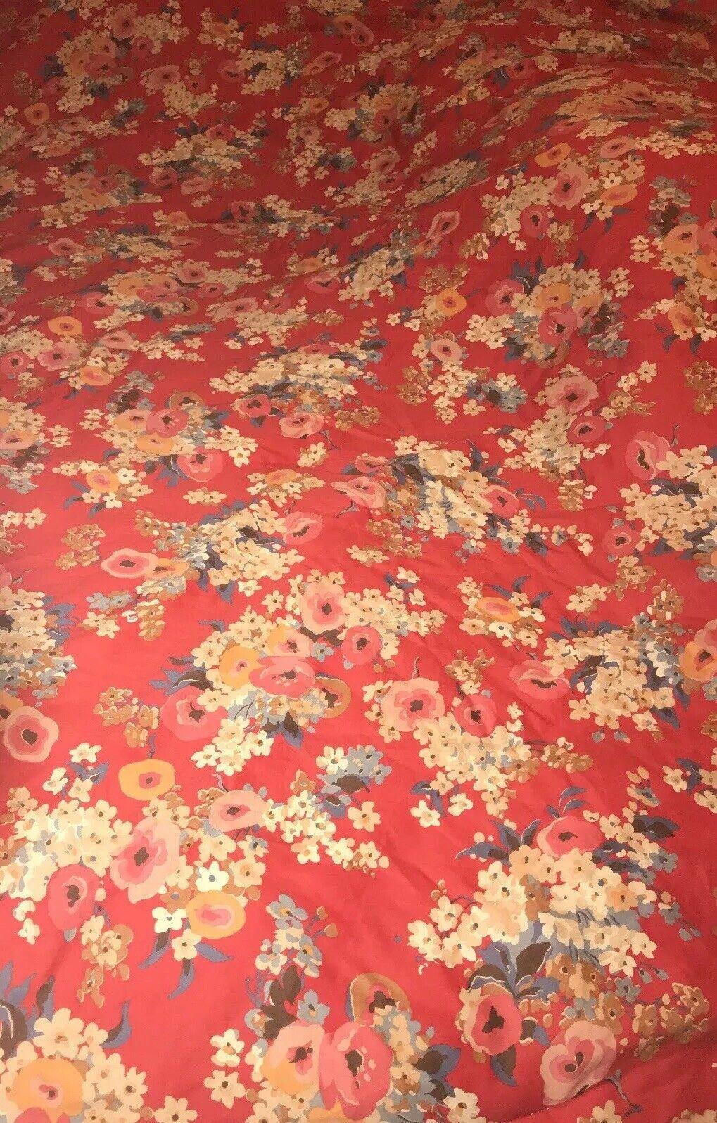Ralph Lauren All Cotton Floral Full Queen Comforter Thick Full Flowers Nice