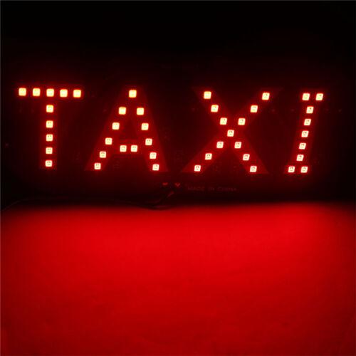 1 Pc Plastic Windscreen Windshield Sign Red Taxi Cab LED Light Lamp Bulb EL