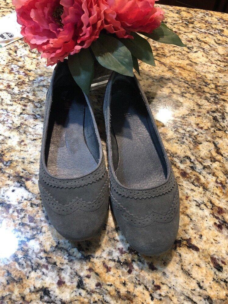 Damenschuhe J. JILL Damenschuhe  Loafers Gray Suede Wingtip Ballet Flats Schuhes 8 1/2 e13f3f