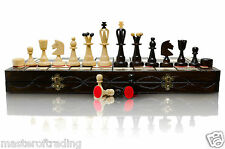 50x50cm Stunning CHESS AND DRAUGHTS / Checkers Wooden Set - BIGGEST ON EBAY !!!