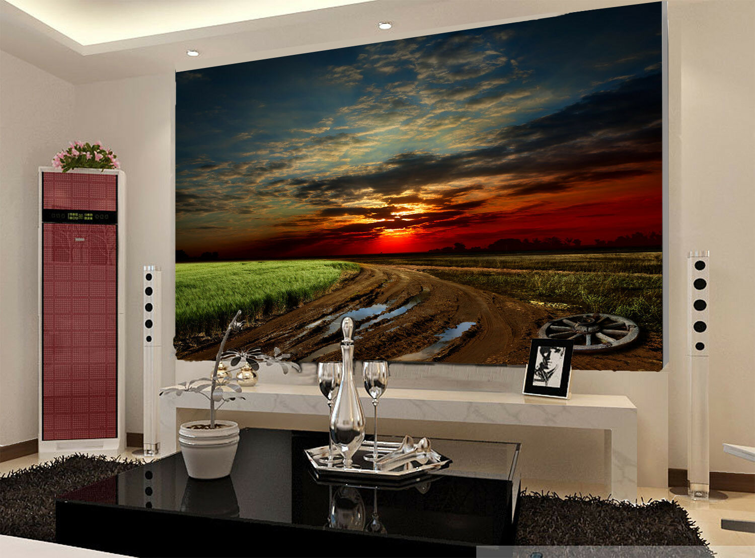 3D Lawn Road 437 Wallpaper Murals Wall Print Wallpaper Mural AJ WALL UK Jenny