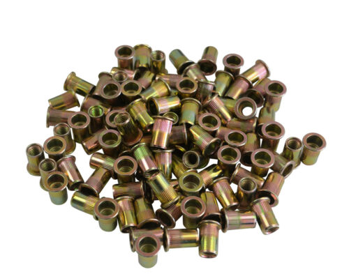 "18  UNC x 100 5//16/"" Imperial Flange Nutserts Steel Rivnut Nutsert"