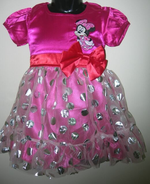 New MINNIE MOUSE Girls Party Dress Size 1,2,3,4,5