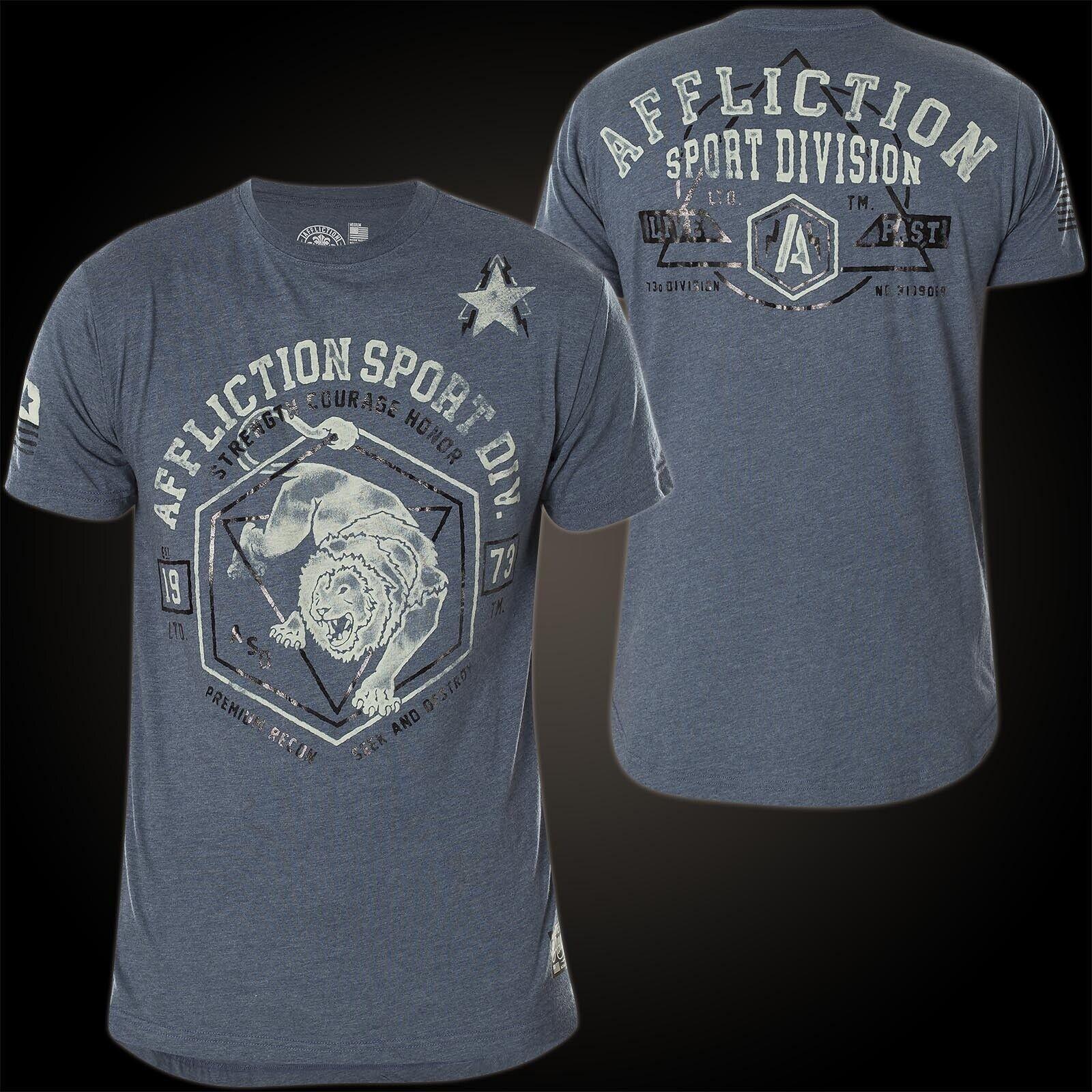 Affliction T-Shirt Animal Instinct Blue