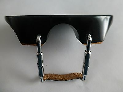 CLAMP /& CORK NEW UK SELLER 1//2 HALF SIZE VIOLIN CHIN REST EBONY BLACK CHINREST