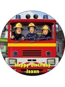 Fireman Sam Edible Wafer Paper Birthday Cake Decoration 12 Cupcake