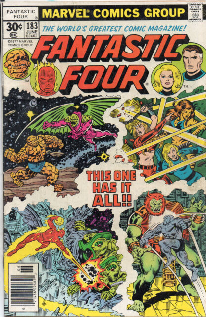 Fantastic Four #183 (Jun 1977, Marvel) VG