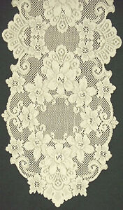 Superieur Image Is Loading Lace Table Runner Cleremont 14x36 Ivory Table Runner