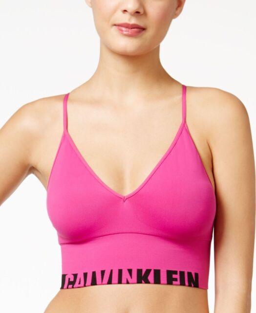 abc523f68a6 Calvin Klein Logo Longline Bralette QF1567 Striking XS for sale ...