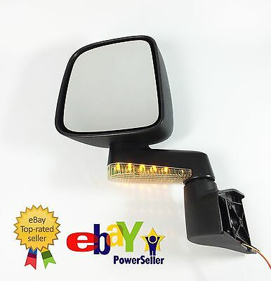 Side-Mirror Pair L+R for Jeep Wrangler 04-06 JM3515B Black Enamel without LED