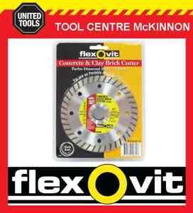 FLEXOVIT-5-125mm-TURBO-RIM-DIAMOND-WHEEL-BLADE-FOR-BRICK-amp-CONCRETE-ETC