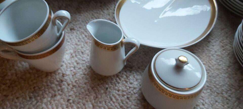 Porcelæn, Stel, Lyngby med guldkant
