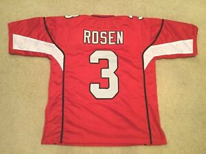 wholesale dealer 292b5 45e63 Details about UNSIGNED CUSTOM Sewn Stitched Josh Rosen Red Jersey - M, L,  XL, 2XL