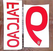 2016-17 AS Monaco UCL Home Shirt FALCAO#9 OFFICIAL MonBlason Name Number Set