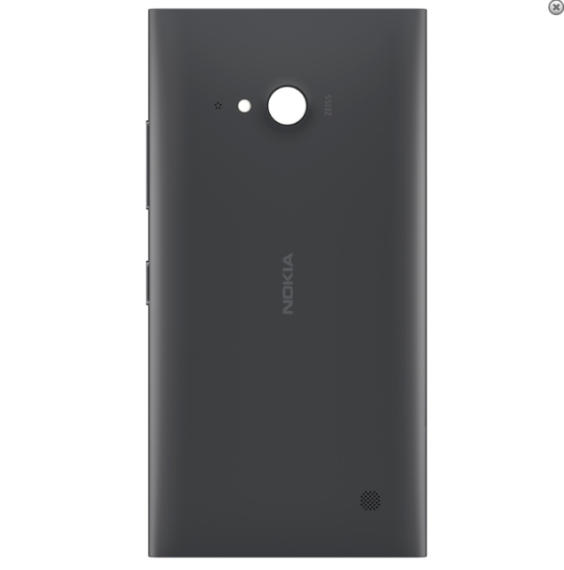Coque Arriere Nokia Lumia 730 / 735 - Couleur Noir - Dispo france