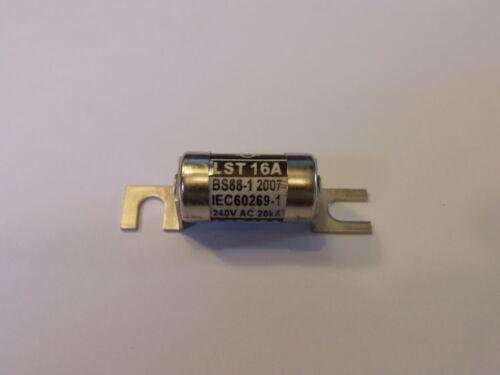 1 X LST 16AMP 240V AC 20KA BS88-1 LST 16A LAWSON FUSE