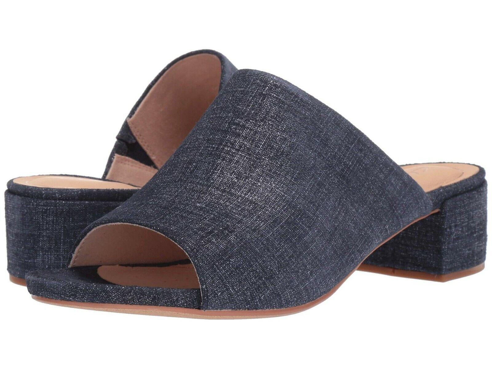 Women's shoes Clarks ORABELLA DAISY Suede Block Heel Sandals 38888 NAVY INTEREST