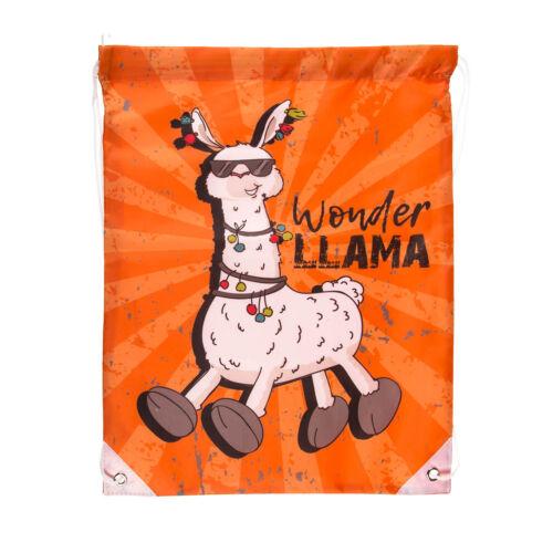 42x34cm Assortiment de lama Nouveauté avec cordon de serrage sac à dos Sac Gym Sac Enfants Idée Cadeau
