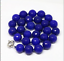 10mm-elegant-blue-sapphire-jade-faceted-round-beads-women-necklace-18 thumbnail 3