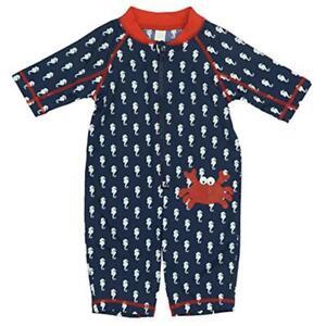 16fb8782af017 Kiko & Max Infant Boys Full Body Rash Guard Swimsuit Size 3/6M 6/9M ...