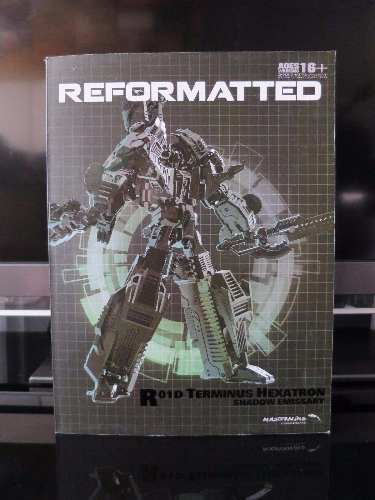 Transformers MMC riformattare R-01D TERMINUS Hexatron OMBRA Emissario Nuovo di zecca con scatola
