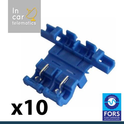 10 X Resorte Cerradura Portafusibles añadir un circuito en línea Empalme Scotchlock tipo
