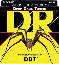 DR Strings DDT5-55 DROP DOWN TUNING Bass Guitar Strings - Heavy - 5-String Set