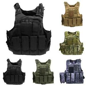 Airsoft-Military-Tactical-Vest-Molle-Combat-Assault-Plate-Carrier